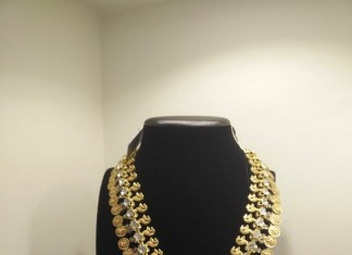 22k gold long kasumalai necklace from Vajra Jewellery