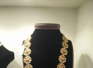 22k gold long haram from vajra jewellery