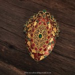 22k God Ruby Emerald Pendant From Karpagam Jewellers