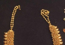 90 Grams Gold Clustered Beads Necklace from Premraj