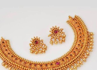 95 grams antique gold choker from new arun jewellers