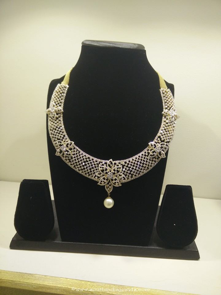 Designer diamond necklace designs from Vajra jewellery