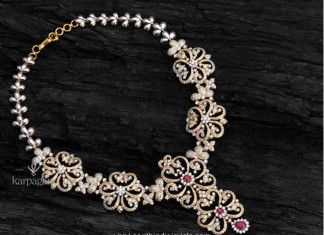 diamond necklace from karpagam jewellers