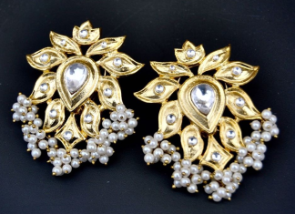 Fancy pearl earrings from orne jewels