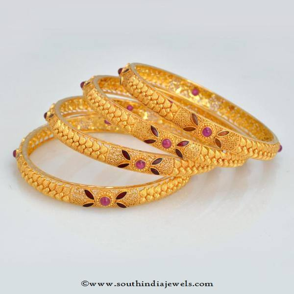 Gold Bangles Set From New Arun Jewellers