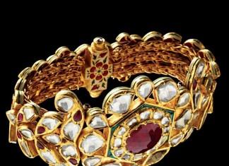 Gold Kundan Bangle Design