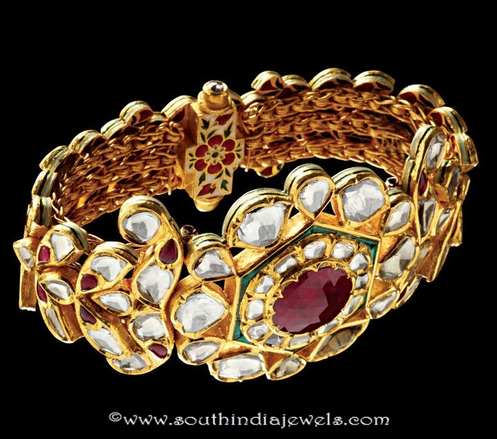 Gold Kundan Bangle Design