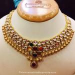 22k Gold Kundan Navarathna Necklace