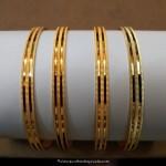 Daily Wear Gold Plain Bangles