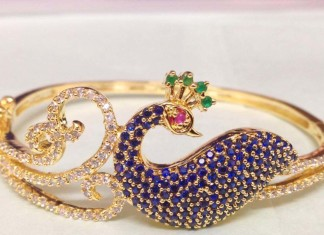 Gold Plated Peacock Bracelet