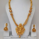Gold Plated Long Haram with Jhumka