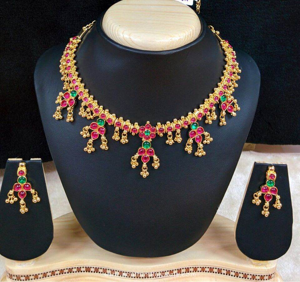 Imitation Ruby Short Necklace from RS designs
