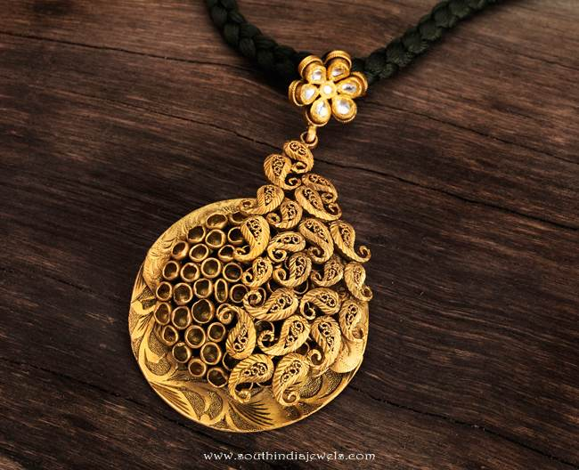 Gold antique pendant from karpagam jewellers south india jewels gold antique pendant from karpagam jewellers mozeypictures Gallery