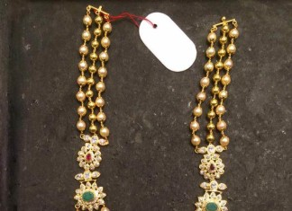 Gold Pearl Haram with side mogappu