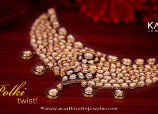 Kalyan Jewellers gold polki necklace
