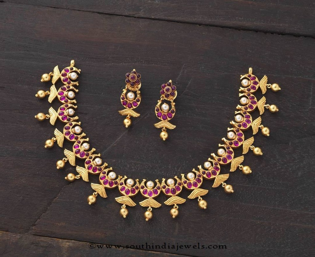 Kemp Ruby Necklace from Kushal Fashion Jewellery