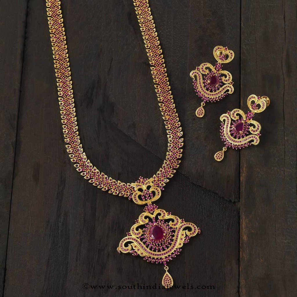 Long Ruby Haram from Ksuhals fashion Jewellery