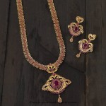Long Ruby Haram with Earrings