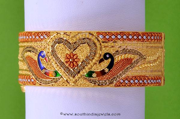 22K gold Broad Bangle From RMA Jewellery