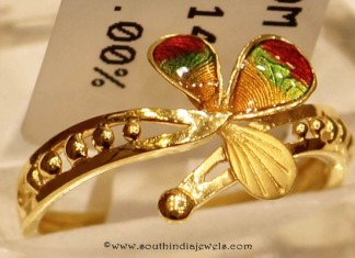 22k Gold Enamel Ring From Sumathi Jewellers