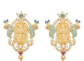 22 Carat Gold Lakshmi Earrings