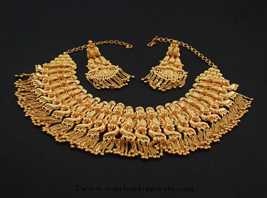 22k gold necklace from D.K Basak Jewellers