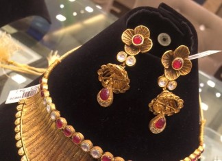 Antique Floral Choker Necklace Set from PSJ