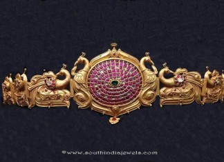 Gold Antique Vadanam from Anagha Jewellery