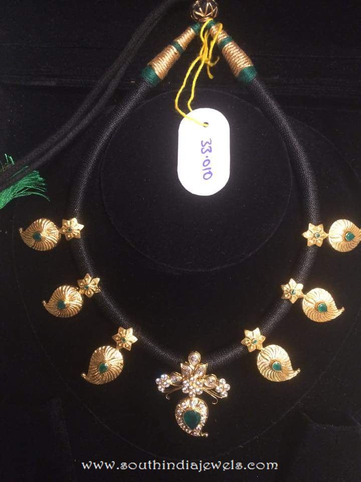 Black Thread Necklace From Dhanlaxmi Jewellers South
