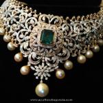 Diamond Choker Necklace from Ishwarya Diamonds