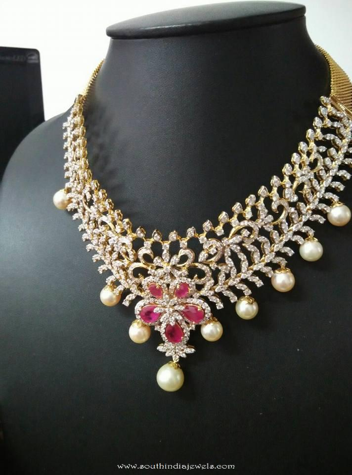Bridal Diamond Choker from Ishwarya Diamonds