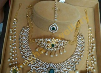 Diamond Bridal Jewellery Set From Anagha Jewellery