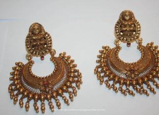 Gold Antique Chandbali from Prakruthi