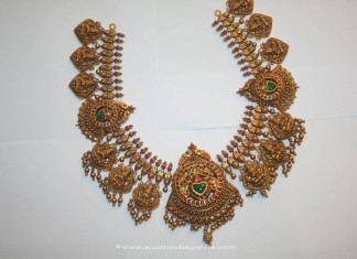 Gold Antique Temple Choker Necklace