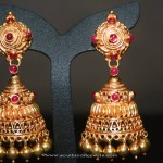 Gold Jhumki Designs from Prakruthi