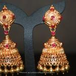 Gold Jhumki Designs from Prakruthi