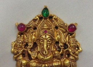 Temple jewellery pendant designs page 2 of 5 south india jewels gold antique ganesh pendant from vijay jewellers aloadofball