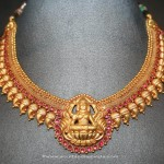 Gold Antique Lakshmi Choker From Prakurthi