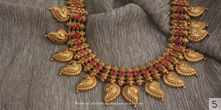 Gold Antique Ruby Necklace from Sayarj Jewellery