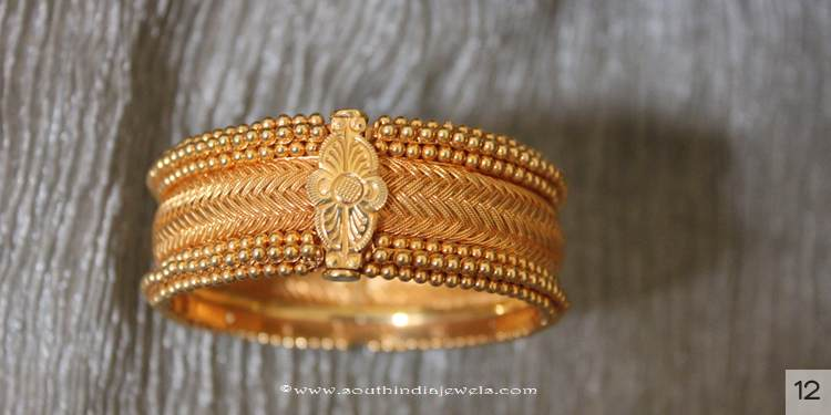 Gold Bangle Designs from Sayarj Jewellery