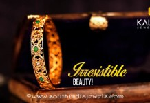Gold Bridal Emerald Bangle From Kalyan Jewellers