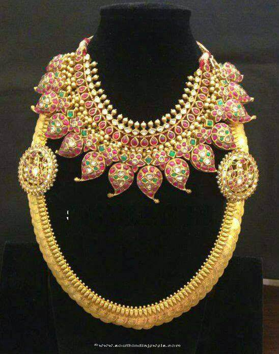 Gold Bridal Jewellery Necklace from Anagha Jewellery