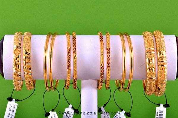 Daily Wear Gold Bangle Designs South India Jewels