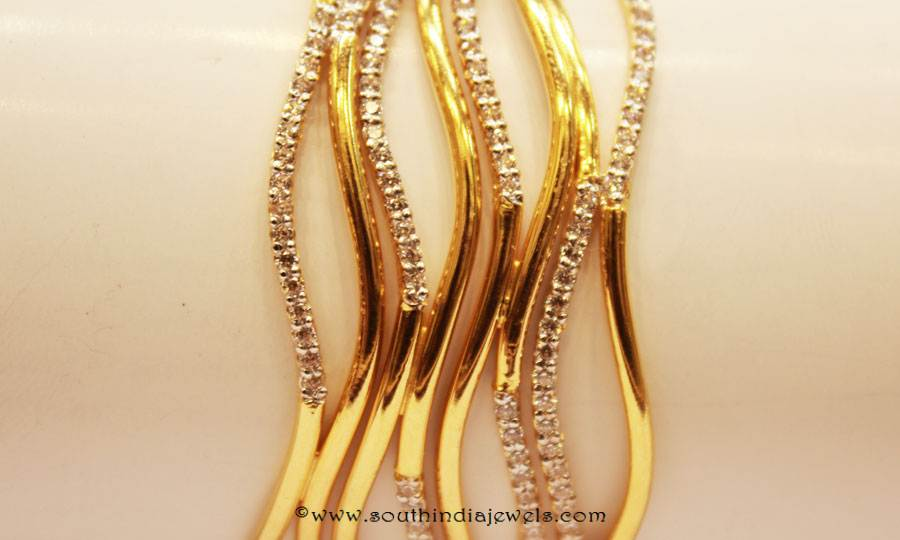Gold Designer Bangle From Sumathi Jewellers
