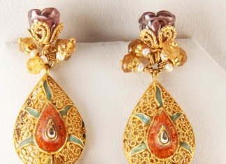 Gold Designer Earrings from Senthil Murugan Jewellers