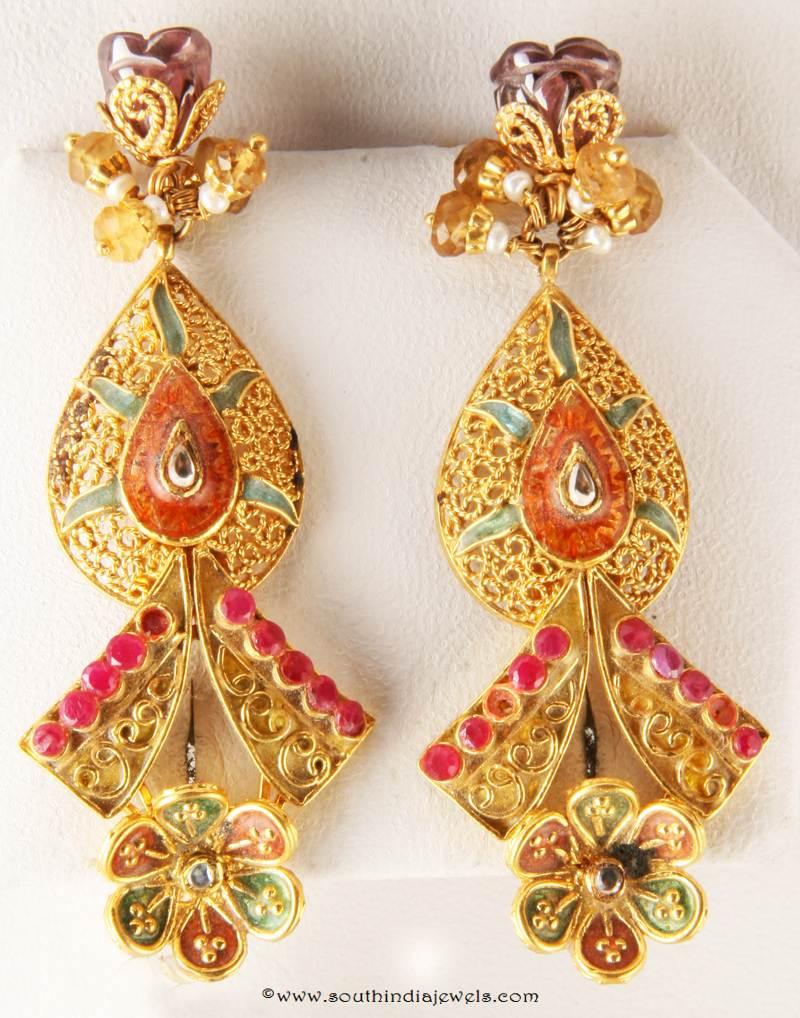 Indian Gold Earrings For Women | Auto Design Tech