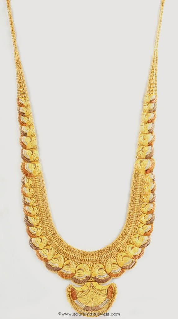 Gold Designer Long Necklace from Senthil Murugan Jewellers
