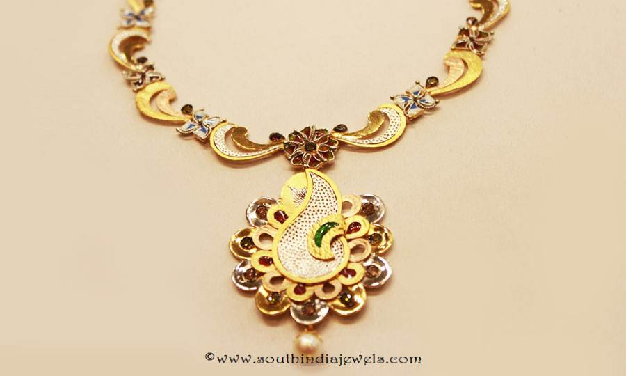 Gold Designer Necklace from Sumathi Jewellers