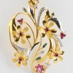 Gold Designer Pendant from Senthil Murugan Jewellers