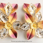 Gold Designer Stud From Senthil Murugan Jewellers